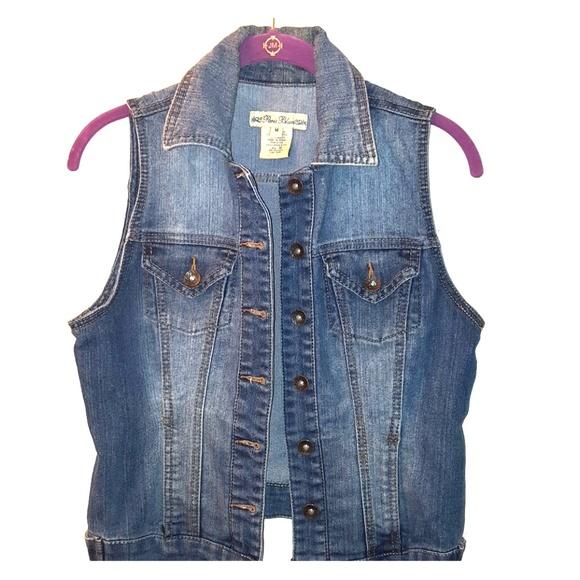 Paris Blues Jackets & Blazers - Distressed Denim Vest